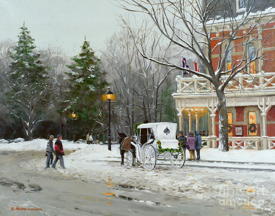 Niagara On The Lake Painting - Niagara Carriage By The Prince Of Wales by Michael Swanson