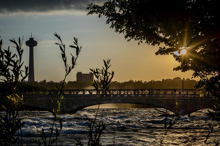 Niagara Falls Photograph - Niagara Dusk by Pat Scanlon