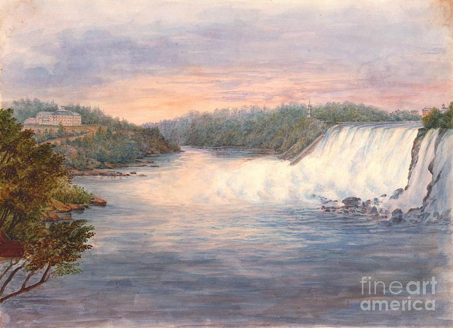 Niagara Falls Photograph - Niagara Falls From Table Rock 1846 by Padre Art
