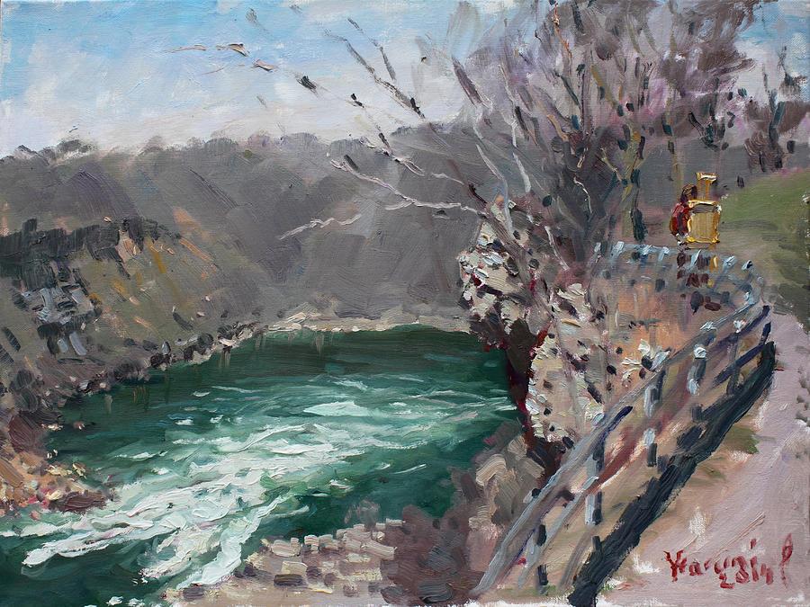 Niagara Gorge Painting - Niagara Falls Gorge by Ylli Haruni