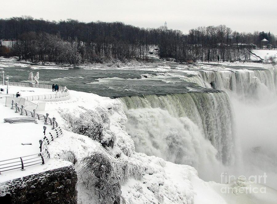 Niagara Falls In Winter 0f 2014 Partially Frozen Over Photograph
