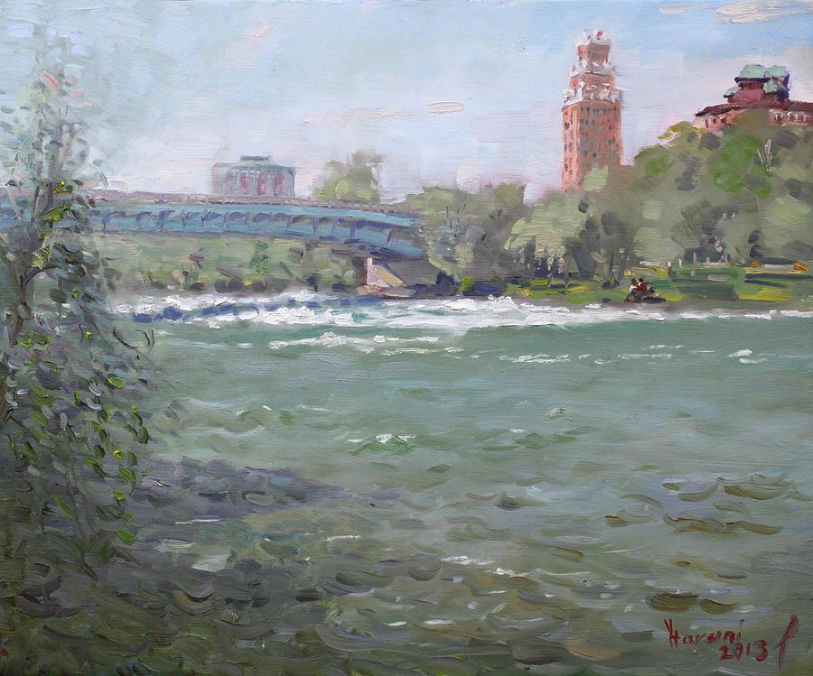 Niagara Falls Painting - Niagara Falls River Ny by Ylli Haruni