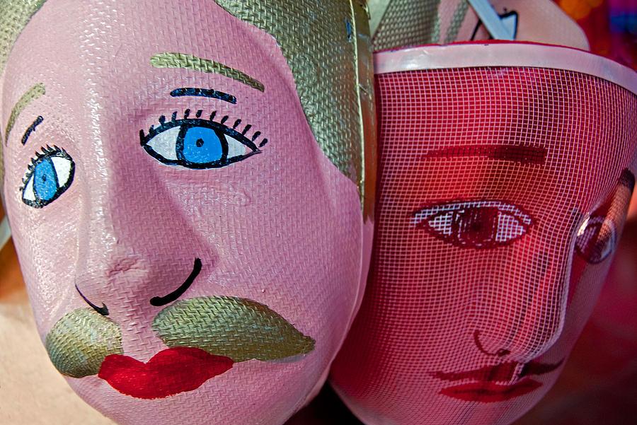 Nicaragua Photograph - Nicaraguan Masks by Dennis Cox