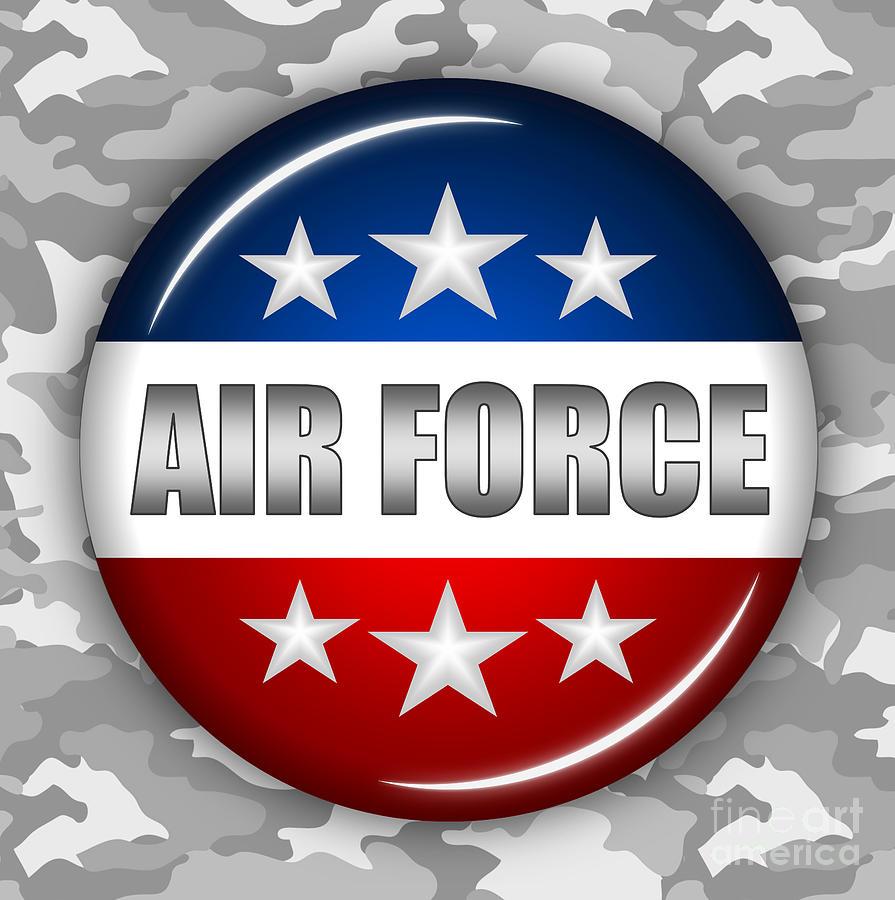 Air Force Digital Art - Nice Air Force Shield 2 by Pamela Johnson