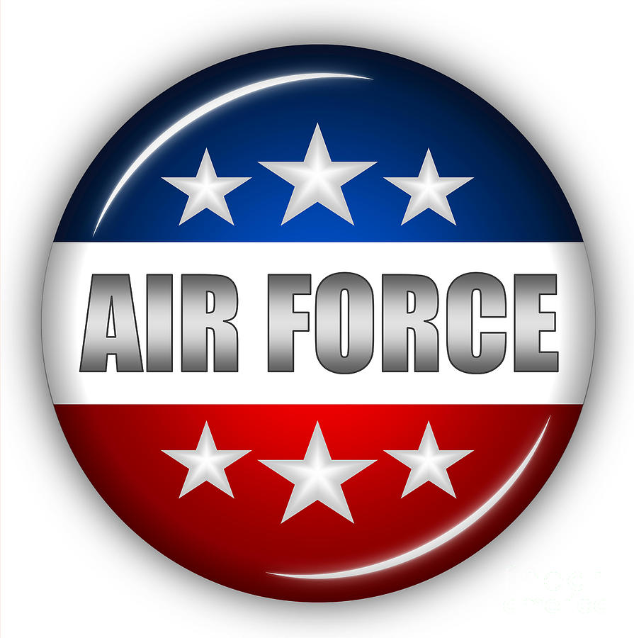 Air Force Digital Art - Nice Air Force Shield by Pamela Johnson