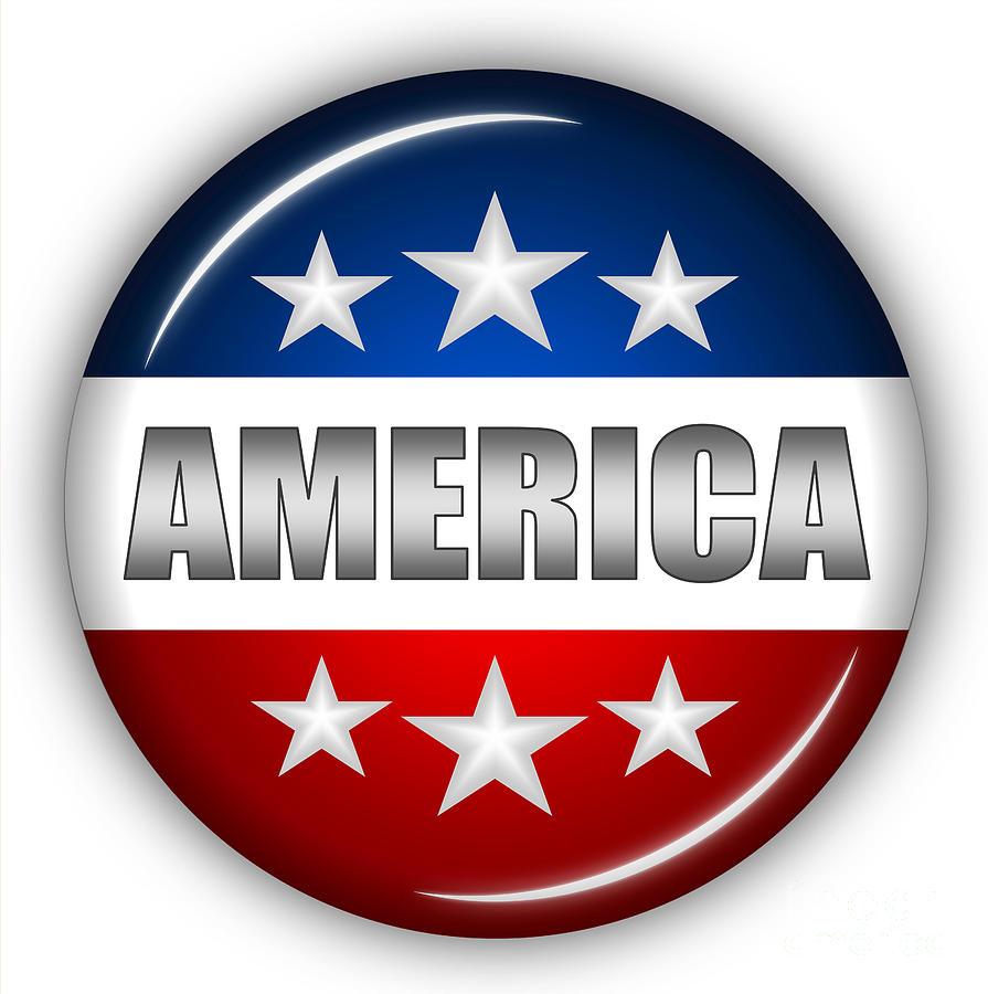 American Flag Digital Art - Nice America Shield by Pamela Johnson