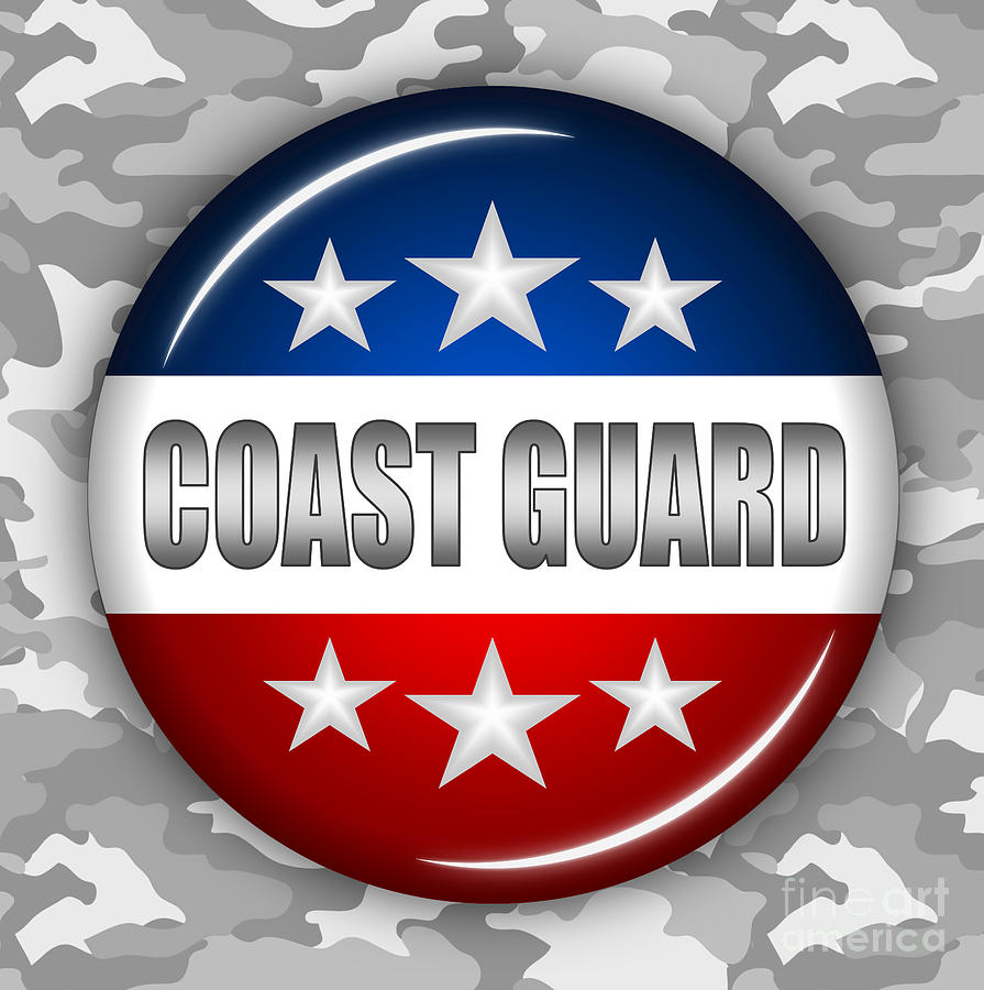 Coast Guard Digital Art - Nice Coast Guard Shield 2 by Pamela Johnson