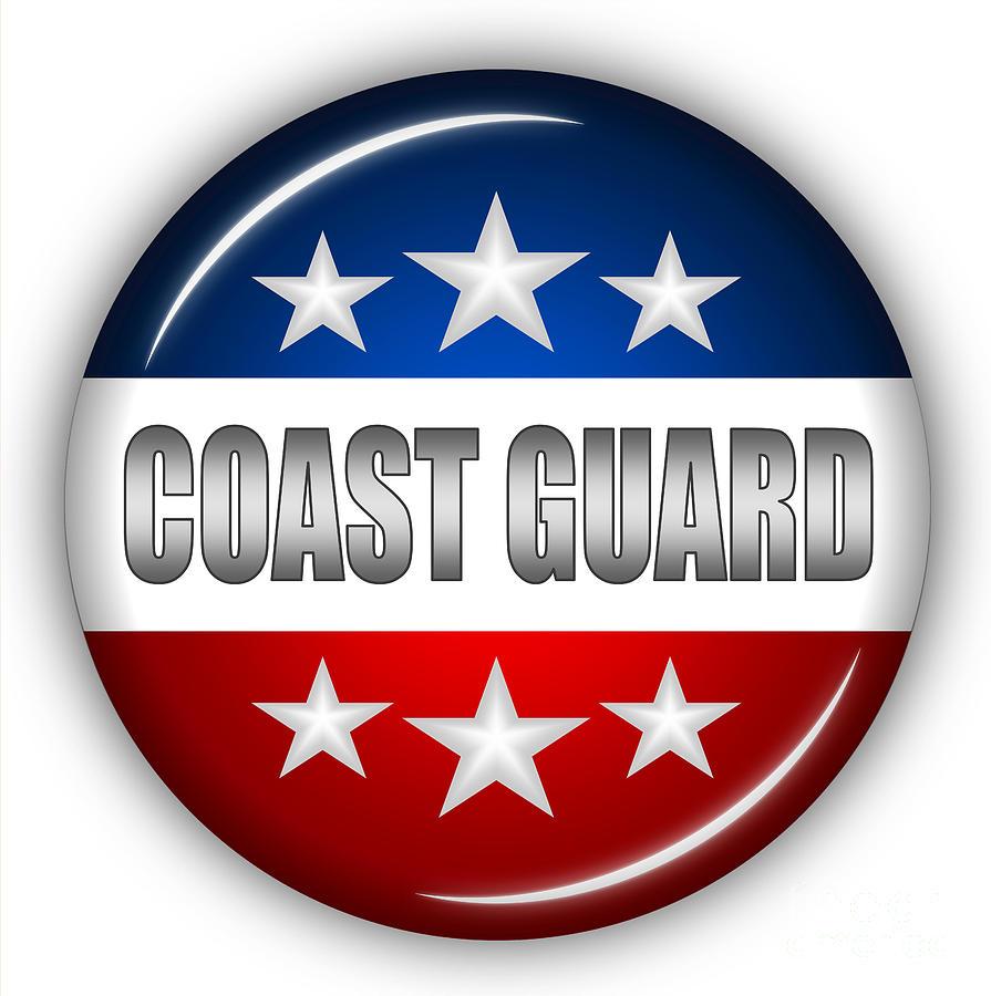 Coast Guard Digital Art - Nice Coast Guard Shield by Pamela Johnson