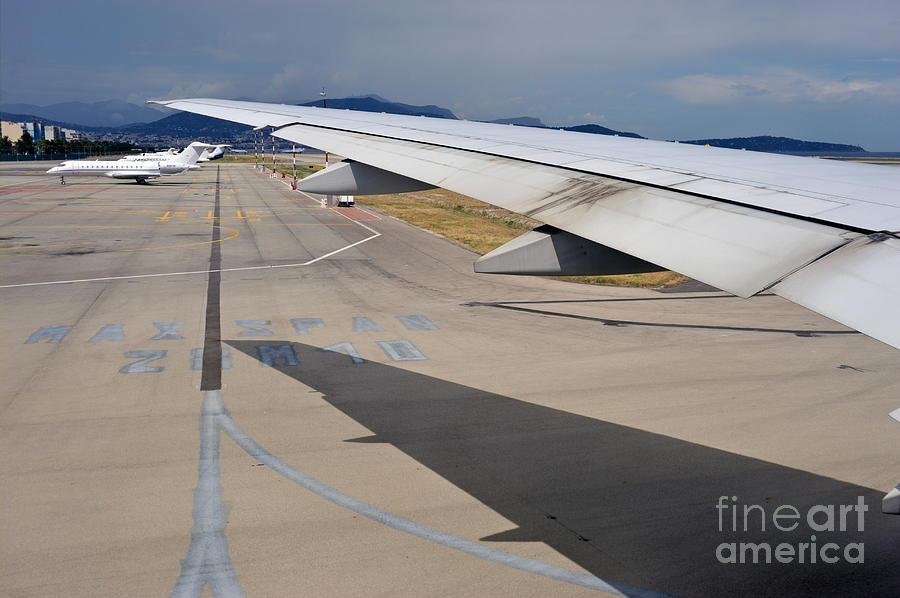 Aeroplane Photograph - Nice Internationat Airport by Sami Sarkis