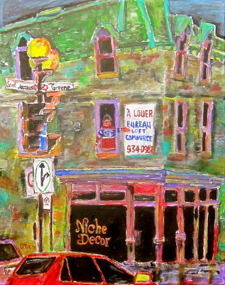 Montreal Painting - Niche Decor by Michael Litvack