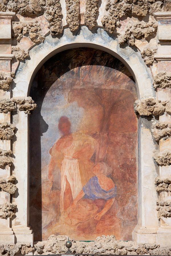 Seville Photograph - Niche Fresco In Real Alcazar Of Seville by Artur Bogacki