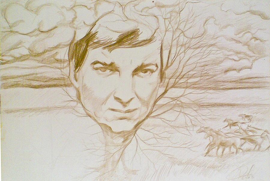 Nichita2 Drawing by Vaidos Mihai