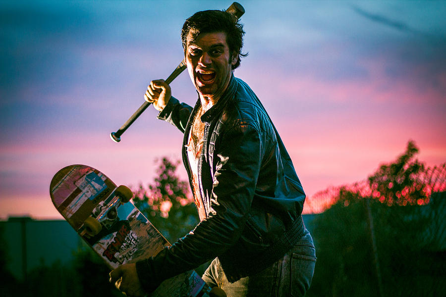 Skate Photograph - Nick Sommer Thrash Or Die by Vincent Buckley