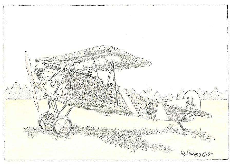 Fokker D Vii German Fighter Plane From Late Wwi. This Example Was Piloted By Fritz Blumenthal. This Was Considered By Many As The Best Fighter Airplane Of The First World War.  Drawing - Nickchen Iv by L D Williams