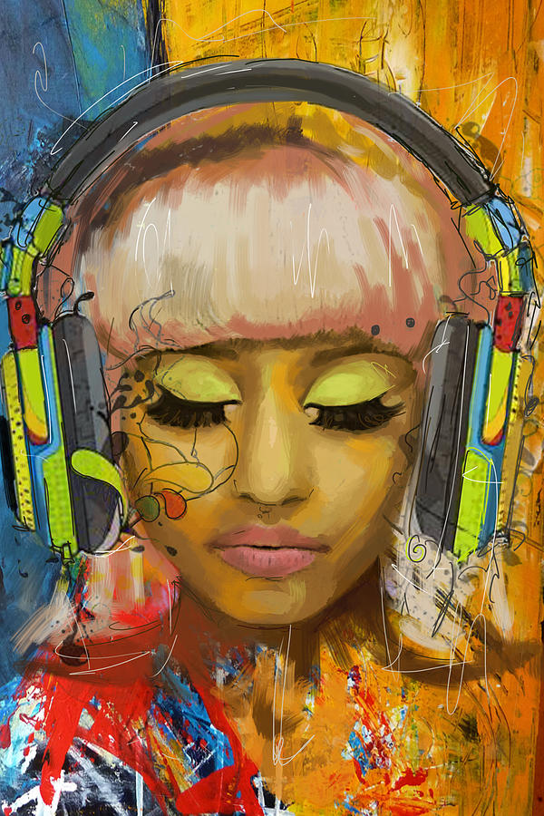 Onika Tanya Maraj Painting - Nicki Minaj by Corporate Art Task Force