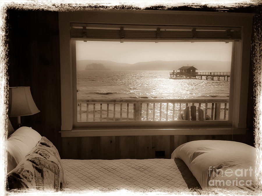 Nicks Cove Photograph - Dreamy Waterfront Cottage by Amy Fearn
