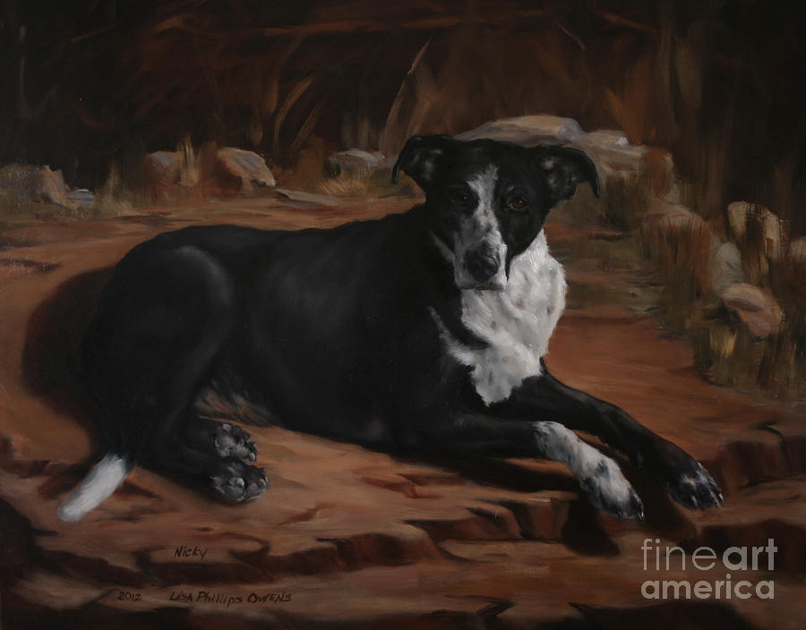 Dog Painting - Nicky by Lisa Phillips Owens