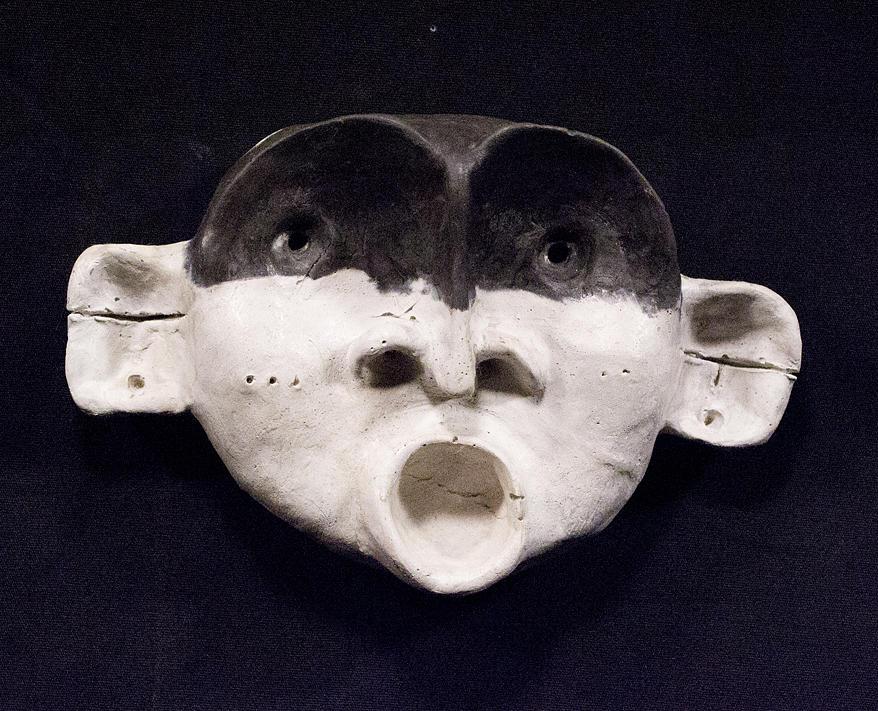 Concrete Sculpture - Nico Black Mask by Mark M  Mellon