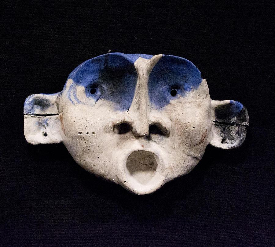 Sculpture Sculpture - Nico Cobalt Mask by Mark M  Mellon