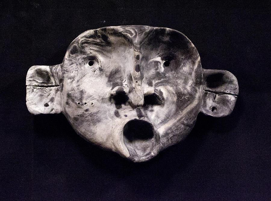 Concrete Sculpture - Nico Marble Mask by Mark M  Mellon