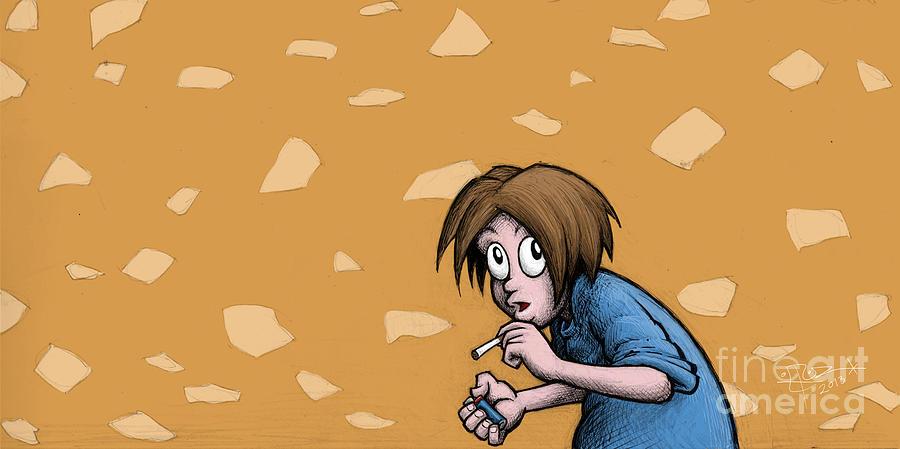 Nicotine Drawing - Nicotine Moments I by M o R x N