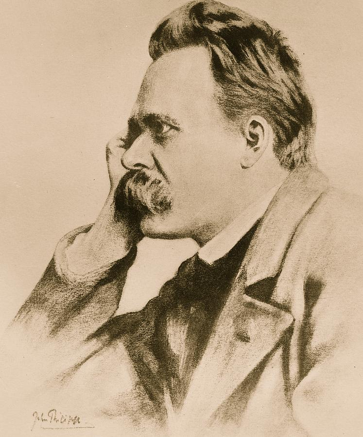 Philosophy Drawing - Nietzsche by Anonymous