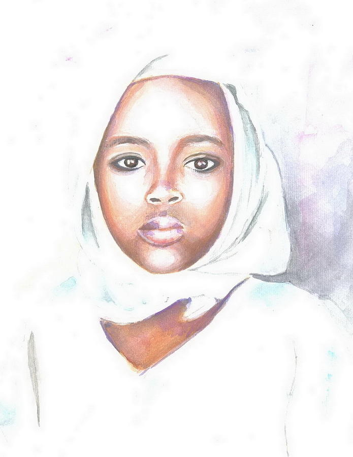 Figurative Painting - Nigerian Girl by Jovica Kostic