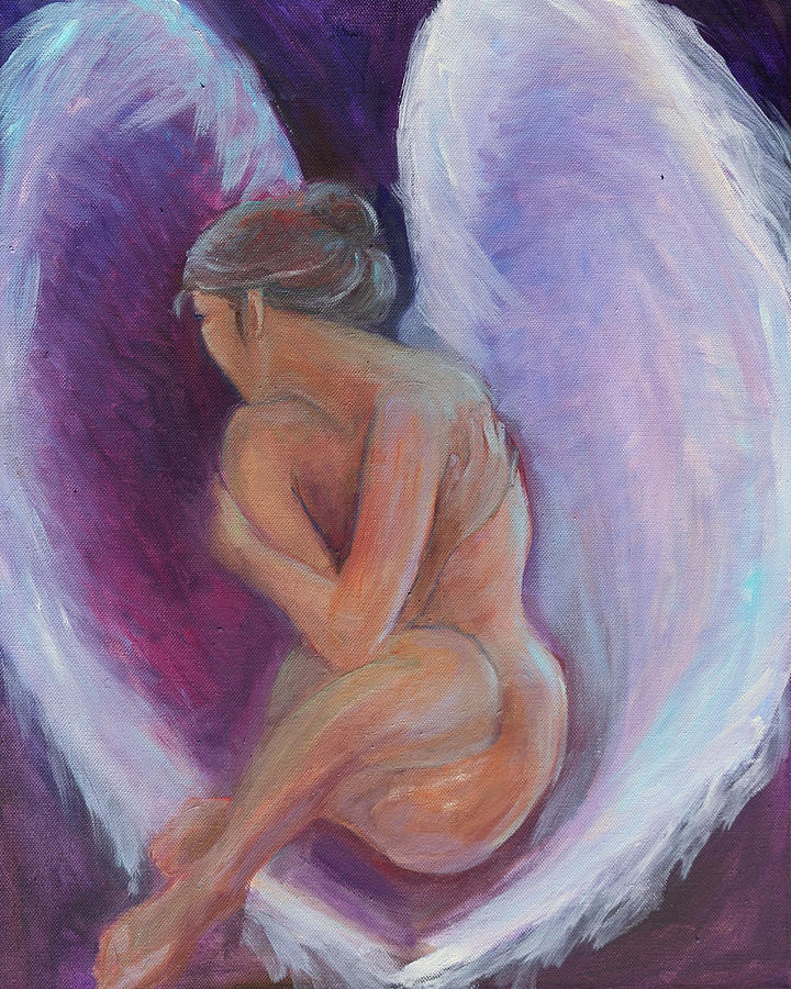 Angel Painting - Night Angel by Gwen Carroll