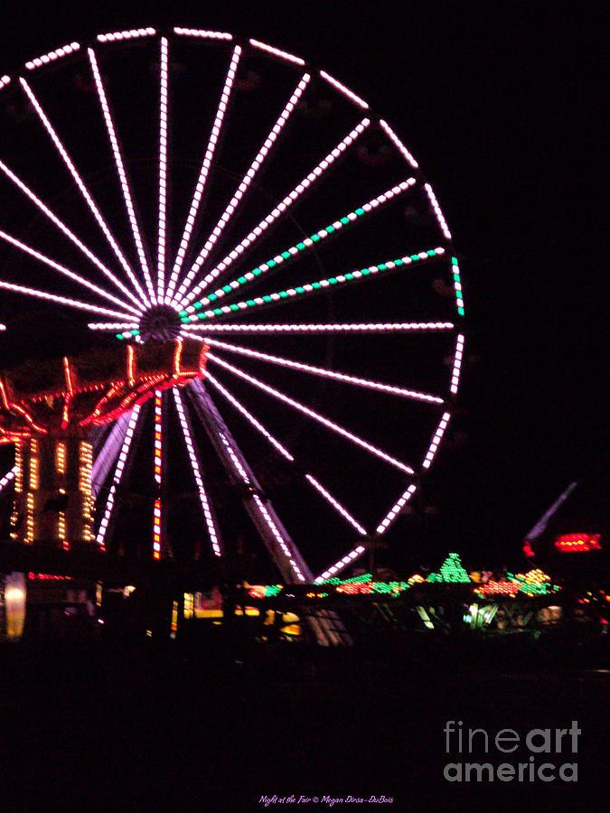 Colorful Photograph - Night At The Fair by Megan Dirsa-DuBois