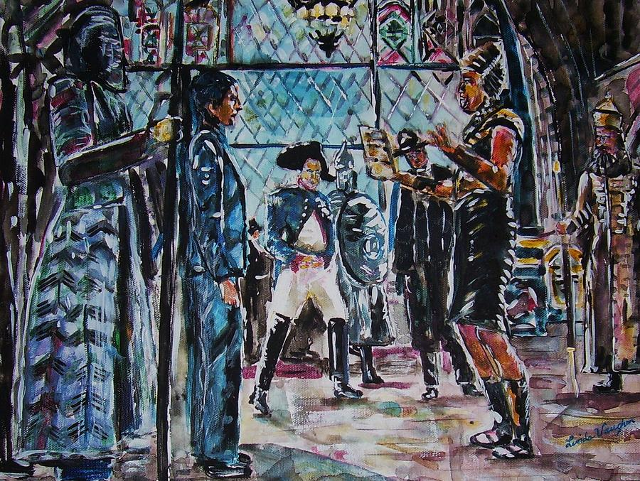Night At The Museum Painting by Linda Vaughon