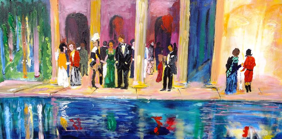 Celebration Painting - Night At Theatre by Mounir Mounir