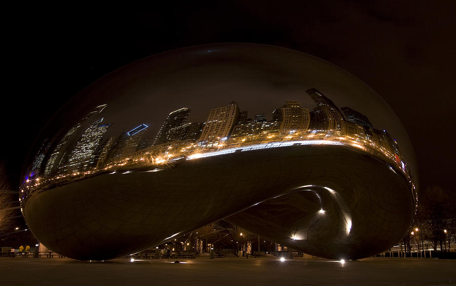 Chicago Photograph - Night Bean by Margaret Guest