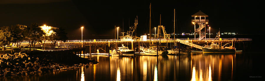 Boats Photograph - Night Boats by Melisa Meyers
