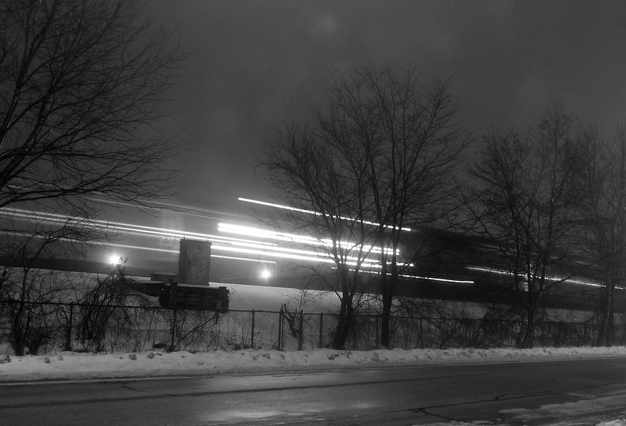 Chicago Photograph - Night Commute by David Bearden