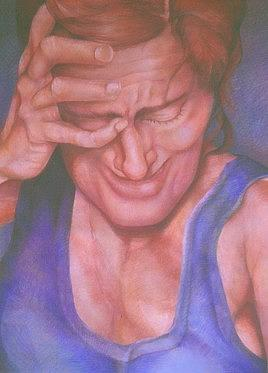 Pastel Drawing - Night Cries by Julie Orsini Shakher
