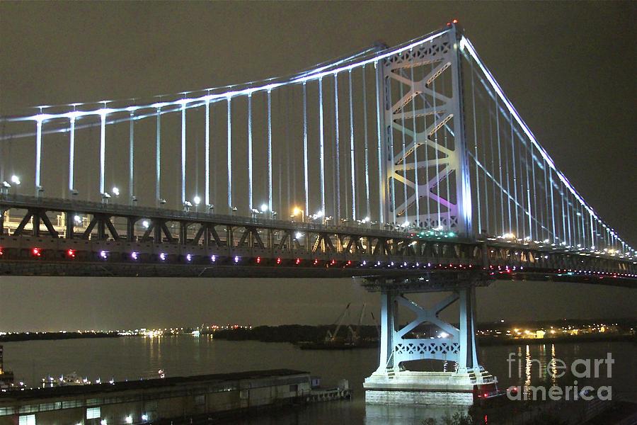Bridge Photograph - Night Crossing by Rick  Monyahan