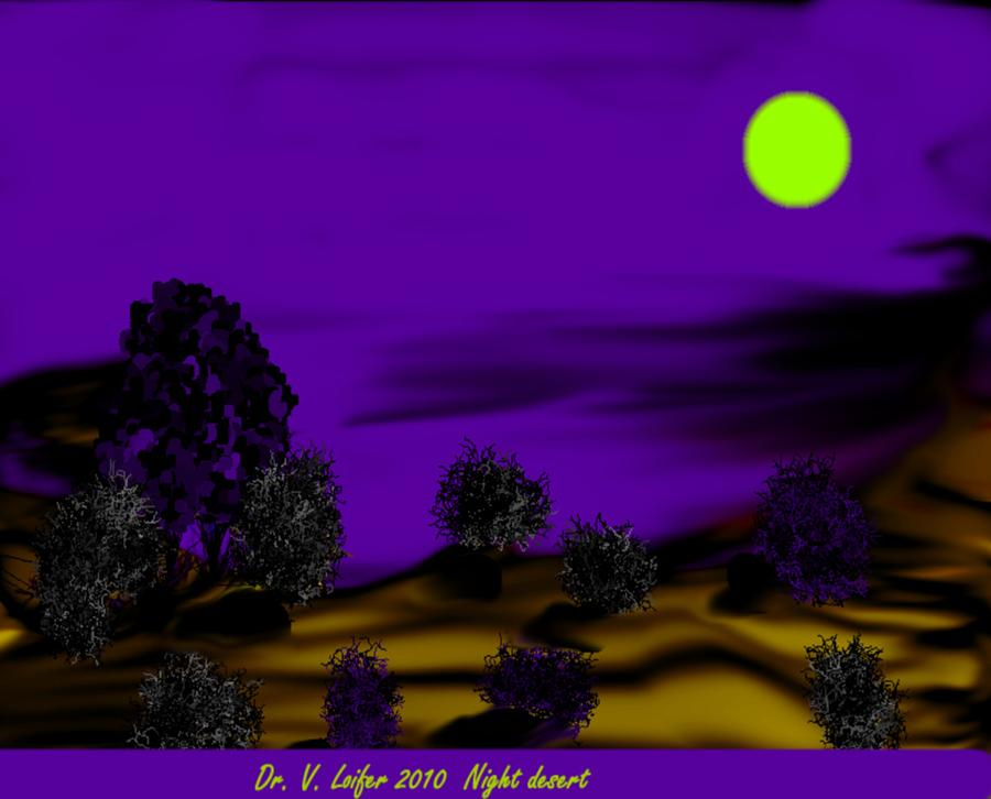 Night Digital Art - Night Desert by Dr Loifer Vladimir