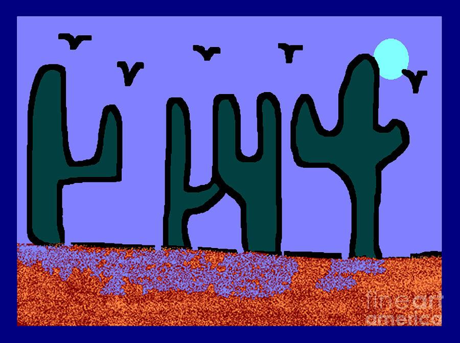 Night Desert Digital Art by Meenal C