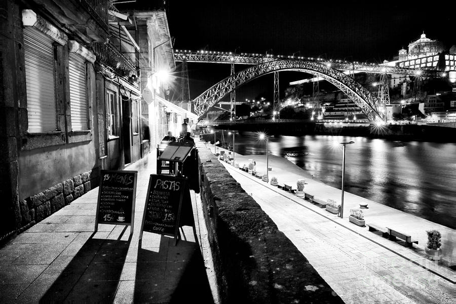 Night Dining In Porto Photograph - Night Dining In Porto by John Rizzuto