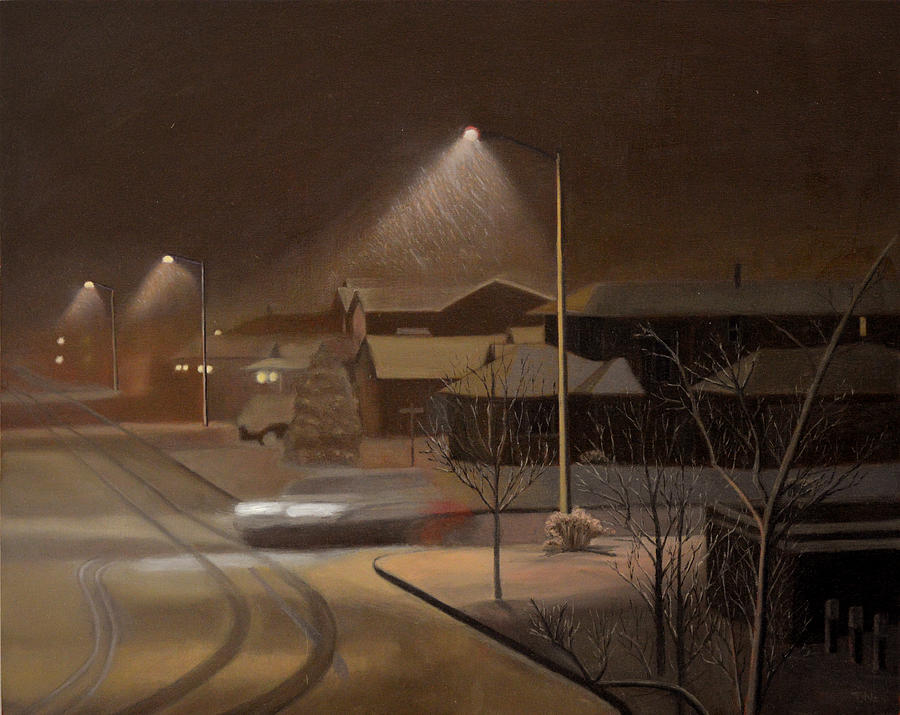 Night Painting - Night Drive by Thu Nguyen