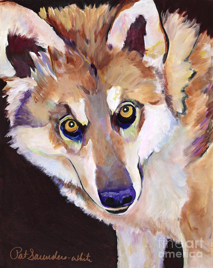Acrylic Paintings Painting - Night Eyes by Pat Saunders-White
