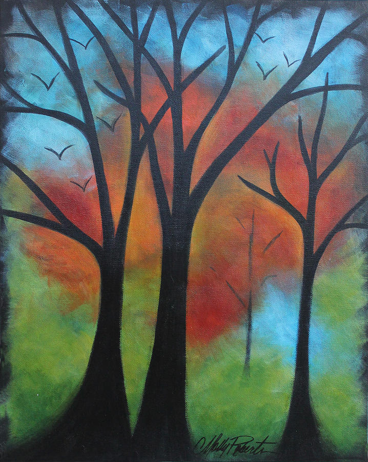 Fall Painting - Night Fall by Molly Roberts