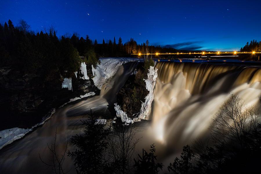 Kakabeka Falls Photograph - Night Falls by Linda Ryma