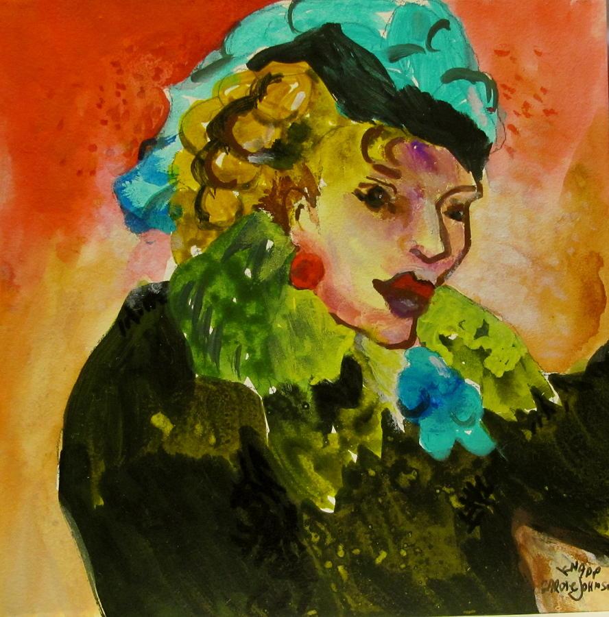 Women Painting - Night Lady Ruby by Carole Johnson