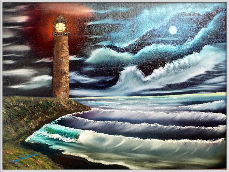 Night Painting - Night Light by Joyce Krenson