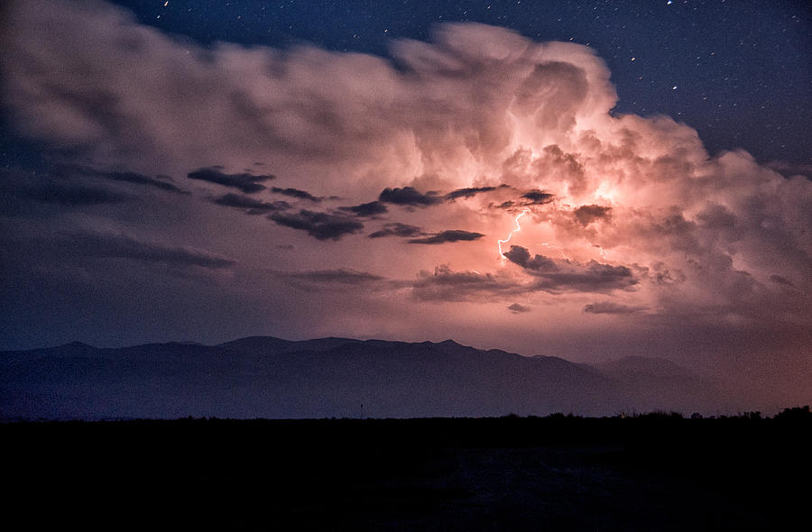 Clouds Photograph - Night Lightning by Cat Connor