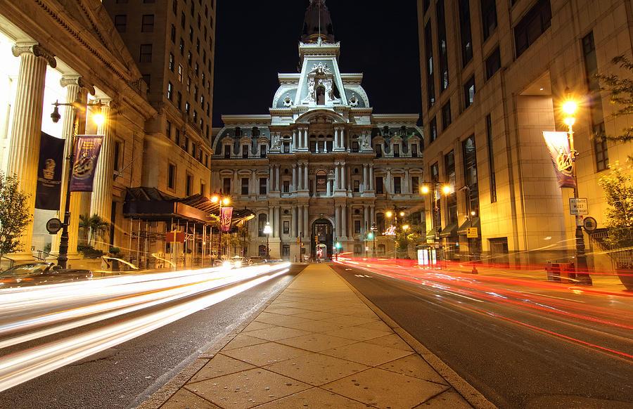 Philadelphia Photograph - Night Lights by Paul Watkins
