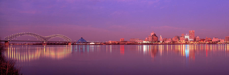 Color Image Photograph - Night Memphis Tn by Panoramic Images