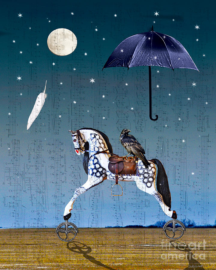 Rocking Horse Digital Art - Night Music by Judy Wood