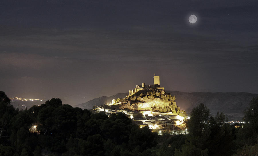 Antic Photograph - Night Over The Castle by Pedro Fernandez